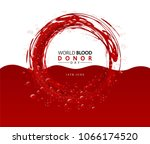 creative blood donor day... | Shutterstock .eps vector #1066174520