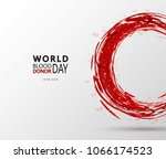 creative blood donor day... | Shutterstock .eps vector #1066174523