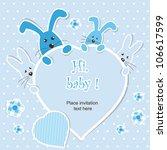 baby shower   boy | Shutterstock .eps vector #106617599