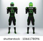 3d realistic of font and back... | Shutterstock .eps vector #1066178096