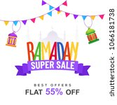 colorful text ramadan super...   Shutterstock .eps vector #1066181738