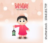 ramadan kareem concept with... | Shutterstock .eps vector #1066181759