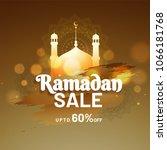 holy islamic month ramadan... | Shutterstock .eps vector #1066181768