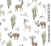 seamless pattern with wild... | Shutterstock .eps vector #1066182230