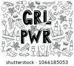 vector hand drawn doodle style... | Shutterstock .eps vector #1066185053