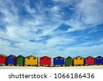 the colorful beach houses at... | Shutterstock . vector #1066186436