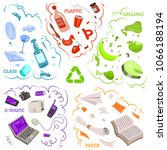 recycling garbage elements.... | Shutterstock .eps vector #1066188194