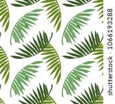 seamless pattern with palm... | Shutterstock .eps vector #1066193288