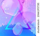 gradient futuristic background... | Shutterstock .eps vector #1066195730