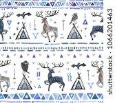 tribal hand drawn background ... | Shutterstock . vector #1066201463