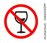 attention forbidden alcohol... | Shutterstock .eps vector #1066202099