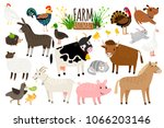Farm Animals. Domestic Farm...
