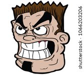 angry face cartoon... | Shutterstock .eps vector #1066203206