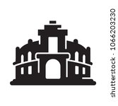 opera theatre glyph icon. urban ... | Shutterstock .eps vector #1066203230