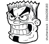 angry face cartoon... | Shutterstock .eps vector #1066208183