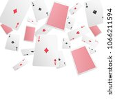 playing cards falling in... | Shutterstock .eps vector #1066211594