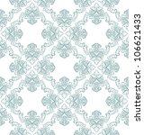 vector seamless floral damask... | Shutterstock .eps vector #106621433