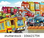 the illustration with many... | Shutterstock . vector #106621754