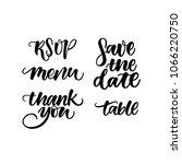 wedding set. wedding hand... | Shutterstock .eps vector #1066220750
