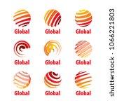 vector logo globe | Shutterstock .eps vector #1066221803