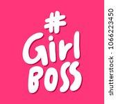 girl boss hashtag. sticker for... | Shutterstock .eps vector #1066223450