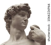 the detail of statue   david by ...   Shutterstock . vector #1066226966
