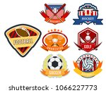 sport game vector team logo... | Shutterstock .eps vector #1066227773