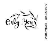 hand written wedding quote with ... | Shutterstock .eps vector #1066231079
