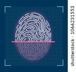 laser scanning of fingerprint....   Shutterstock .eps vector #1066231553