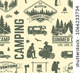 summer camp seamless pattern or ... | Shutterstock .eps vector #1066233734