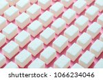 cubes of refined white sugar... | Shutterstock . vector #1066234046