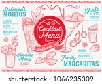 cocktail bar menu. vector... | Shutterstock .eps vector #1066235309