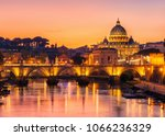rome skyline with vatican st... | Shutterstock . vector #1066236329