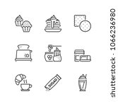 outline icons about sweet... | Shutterstock .eps vector #1066236980