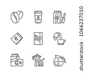 outline icons about coffee | Shutterstock .eps vector #1066237010