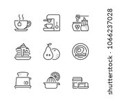 outline icons about breakfast | Shutterstock .eps vector #1066237028