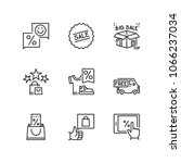 outline icons about discounts | Shutterstock .eps vector #1066237034