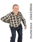 elderly man with back pains on...   Shutterstock . vector #1066238066