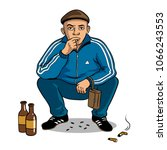 gopnik russian hooligan man pop ... | Shutterstock .eps vector #1066243553
