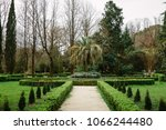 beautifully trimmed and... | Shutterstock . vector #1066244480