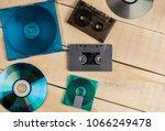 musical cassettes disk floppy... | Shutterstock . vector #1066249478