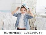photo of diligent schoolboy... | Shutterstock . vector #1066249754