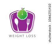 weight loss logo | Shutterstock .eps vector #1066251410