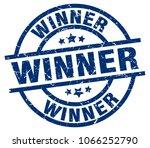 winner blue round grunge stamp | Shutterstock .eps vector #1066252790