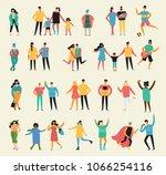 vector illustration in a flat... | Shutterstock .eps vector #1066254116