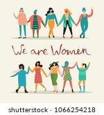 we are women. feminine concept... | Shutterstock .eps vector #1066254218