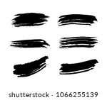 set of black vector brush... | Shutterstock .eps vector #1066255139