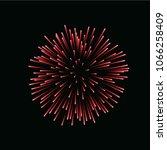 beautiful red firework. bright... | Shutterstock .eps vector #1066258409