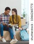 happy high school students... | Shutterstock . vector #1066260773