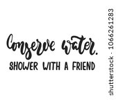 conserve water. shower with a...   Shutterstock .eps vector #1066261283